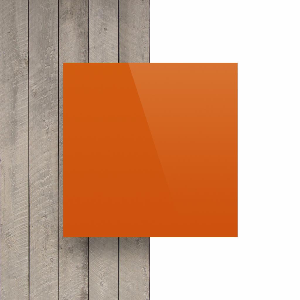 Buchstabenplatte orange vorderseite