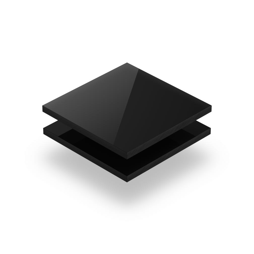 Buchstabenplatte schwarz 8mm