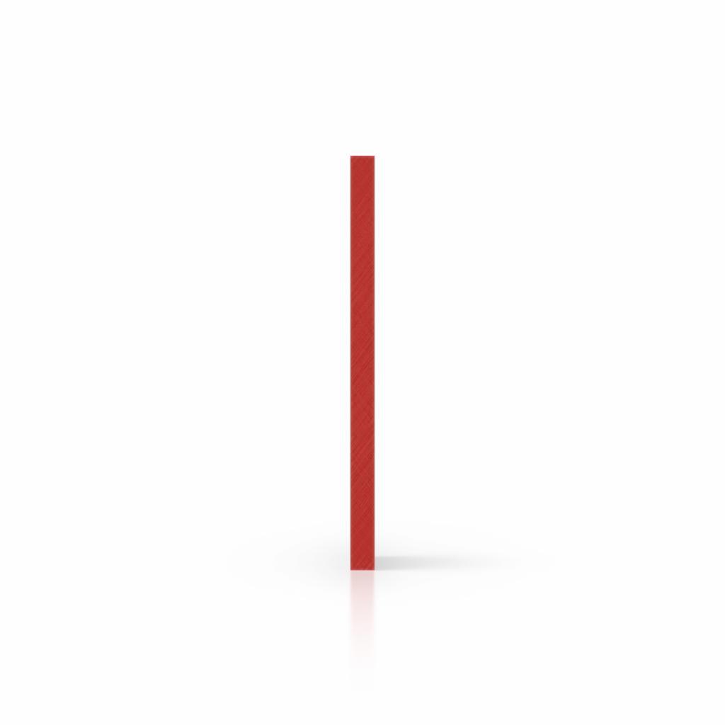 Buchstabenplatte signalrot seite