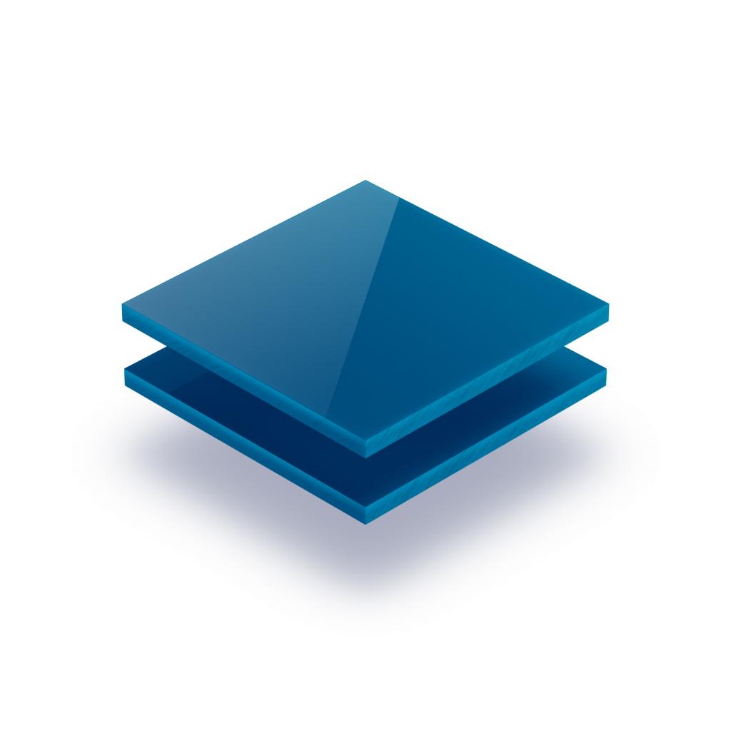 Buchstabenplatte verkehrsblau 8mm
