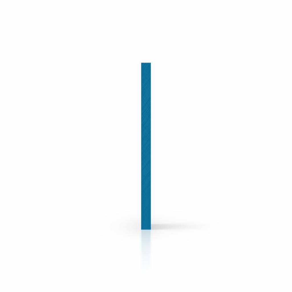 Buchstabenplatte verkehrsblau seite