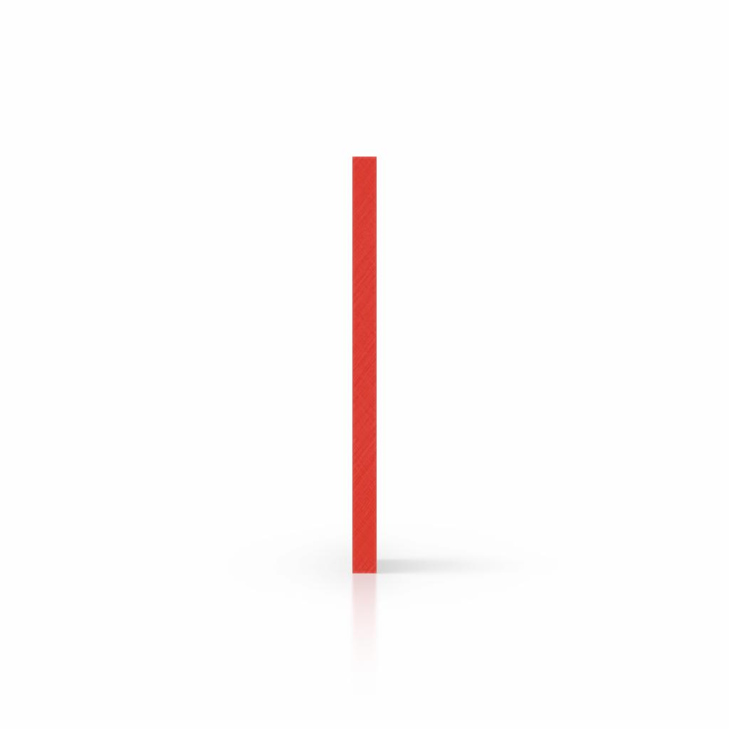 Buchstabenplatte verkehrsrot seite