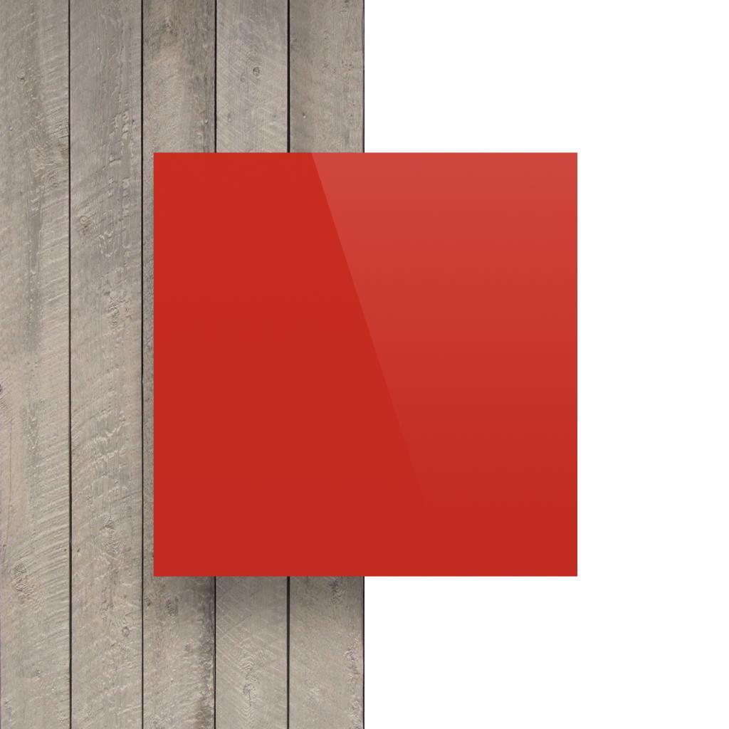 Buchstabenplatte verkehrsrot vorderseite