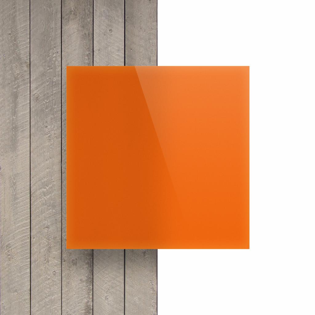 Vorseite Acrylglas Platte opal orange