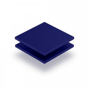 Acrylglas Buchstabenplatte nachtblau matt