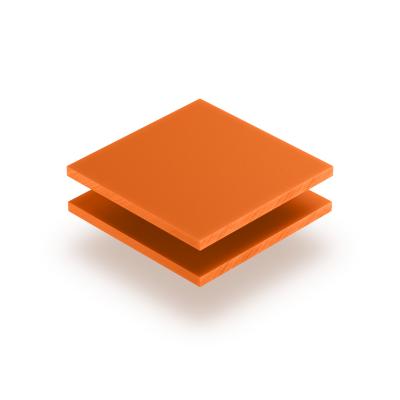 Acrylglas Buchstabenplatte orange matt