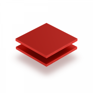 Acrylglas Buchstabenplatte signalrot matt