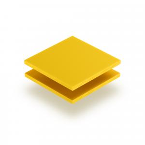 Acrylglas Buchstabenplatte verkehrsgelb matt