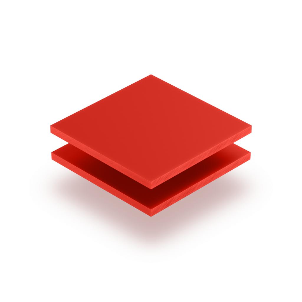 Acrylglas Buchstabenplatte verkehrsrot matt
