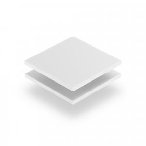 Acrylglas Buchstabenplatte weiß matt
