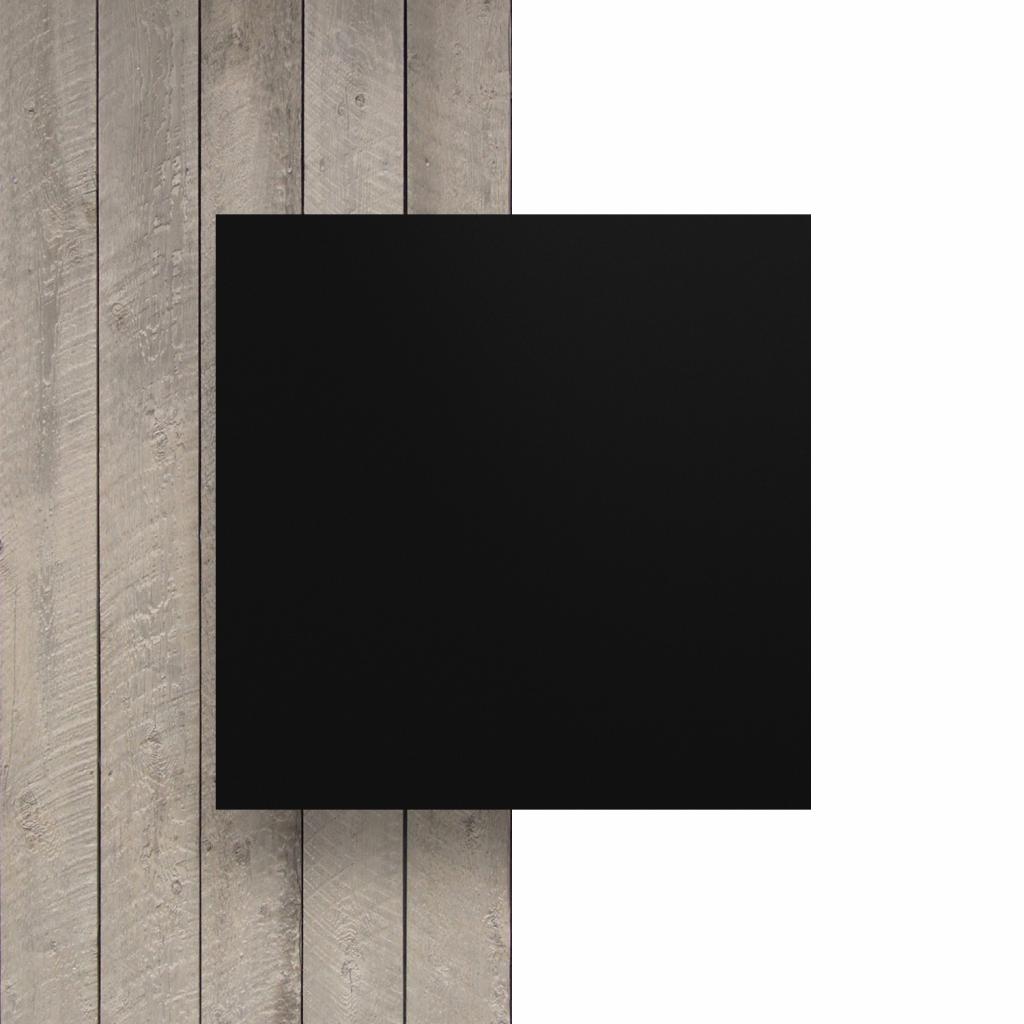 Vorseite matt Buchstabenplatte schwarz