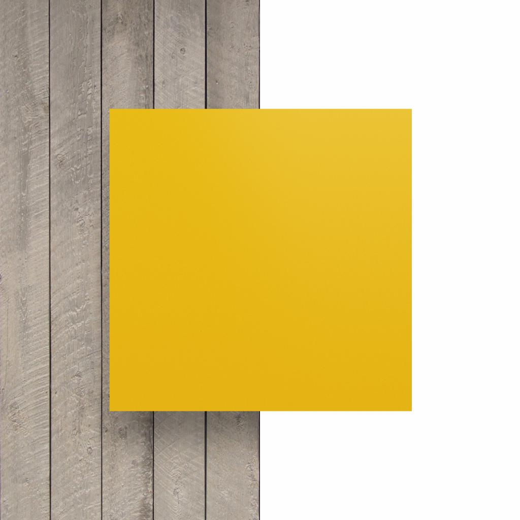 Vorseite matt Buchstabenplatte verkehrsgelb