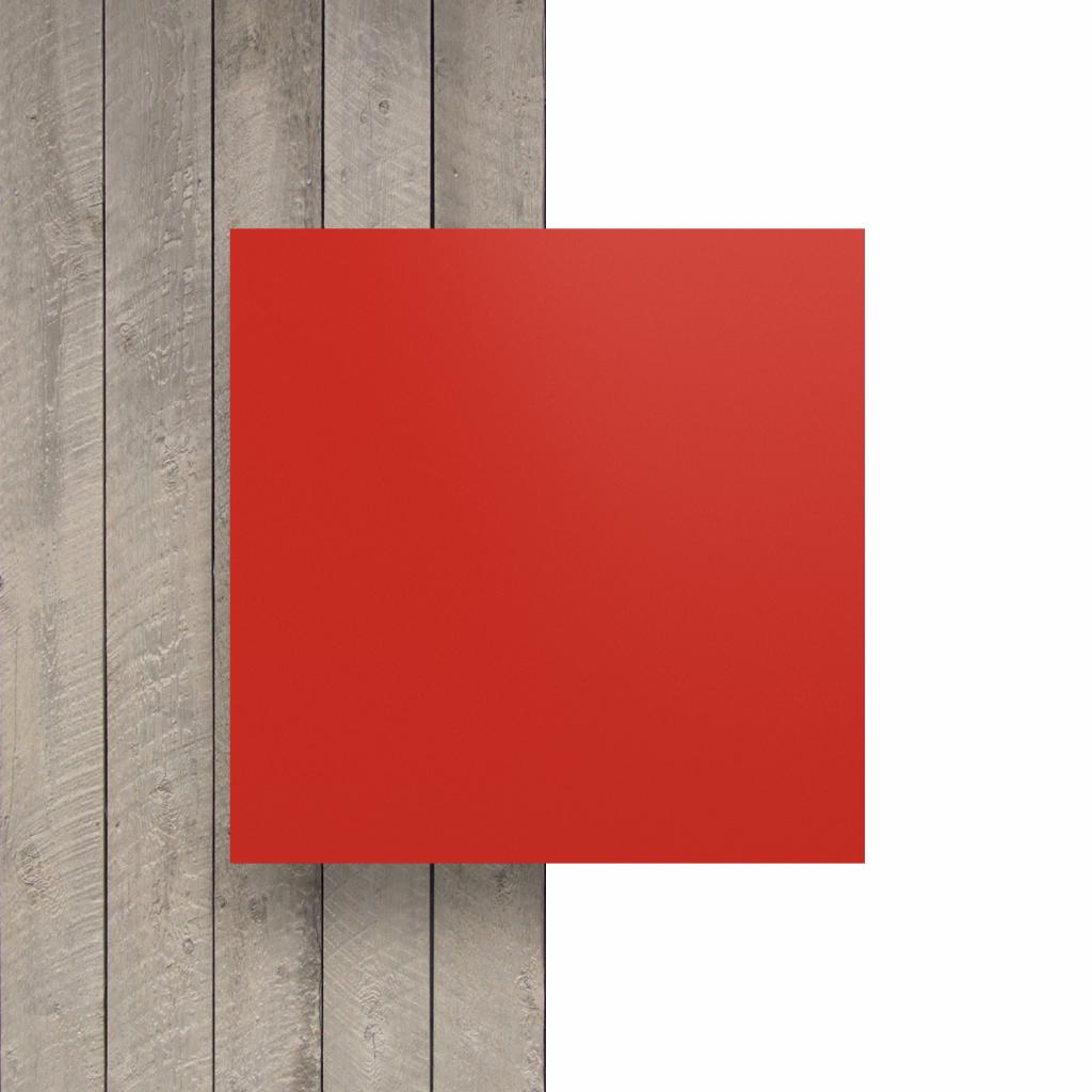 Vorseite matt Buchstabenplatte verkehrsrot