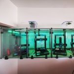 Kabine aus Polycarbonatplatten für 3D-Drucker