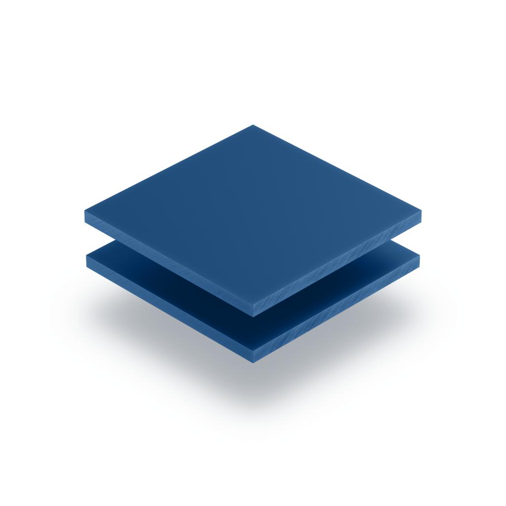 Acrylglas Buchstabenplatte blau matt