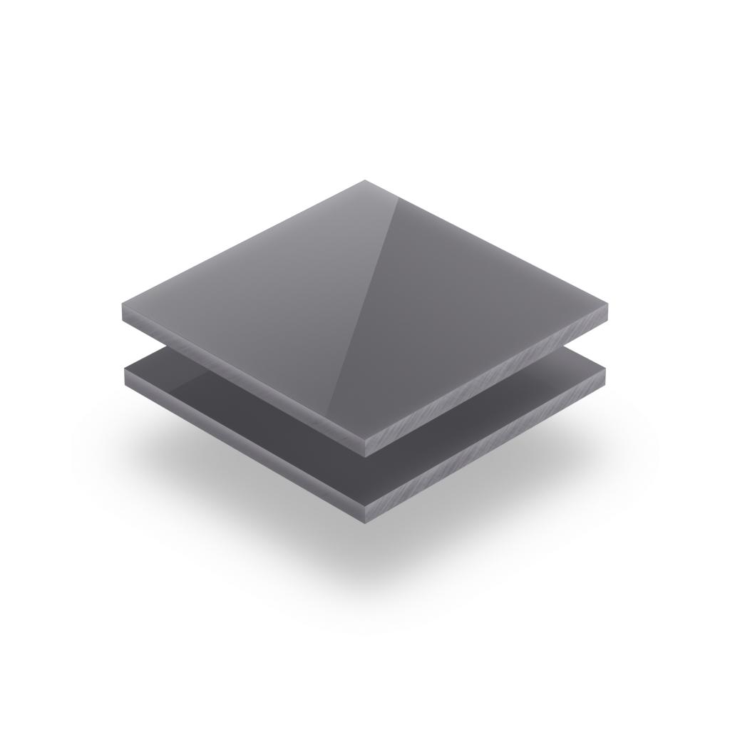Acrylglas Buchstabenplatte glaenzend grau