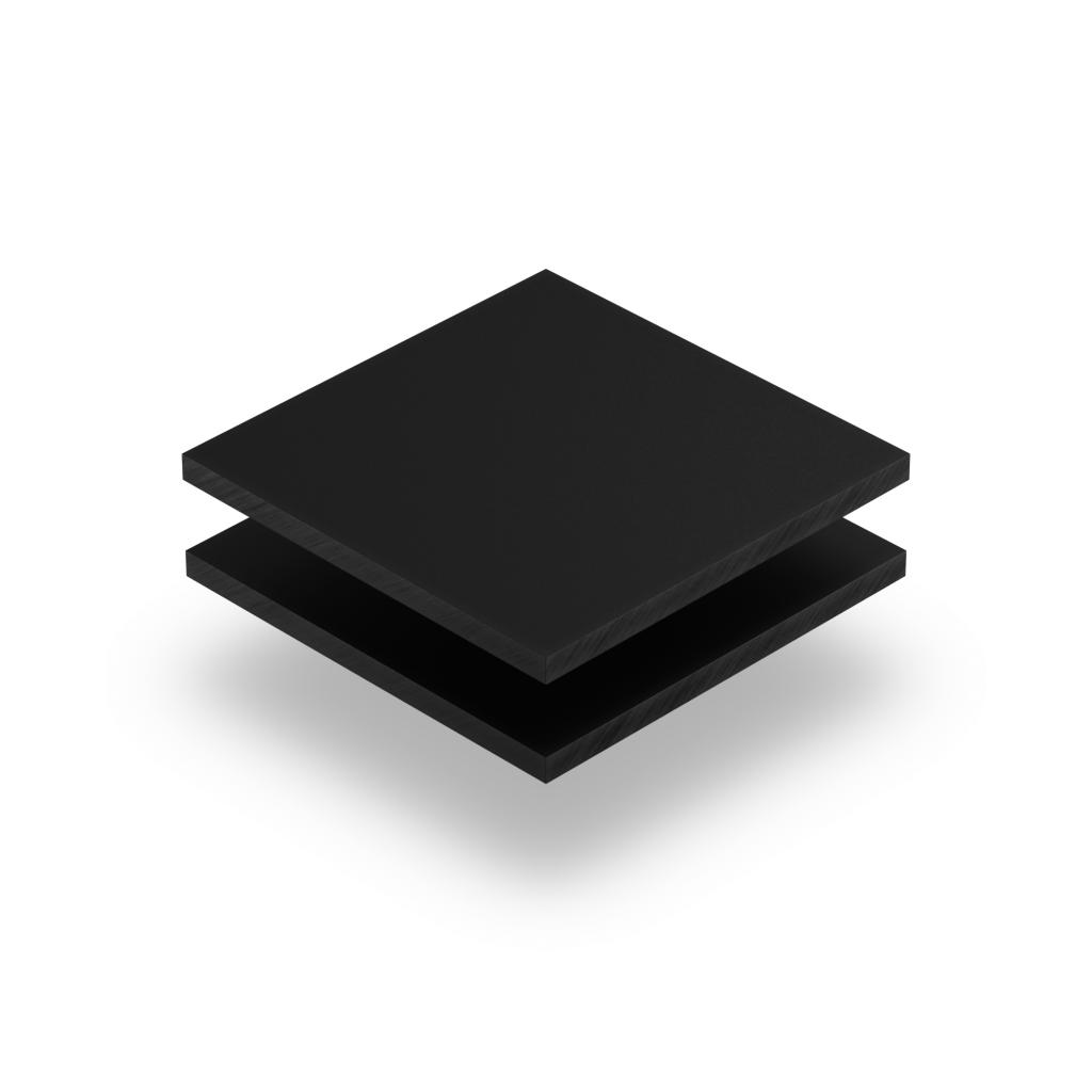 Acrylglas Buchstabenplatte schwarz matt