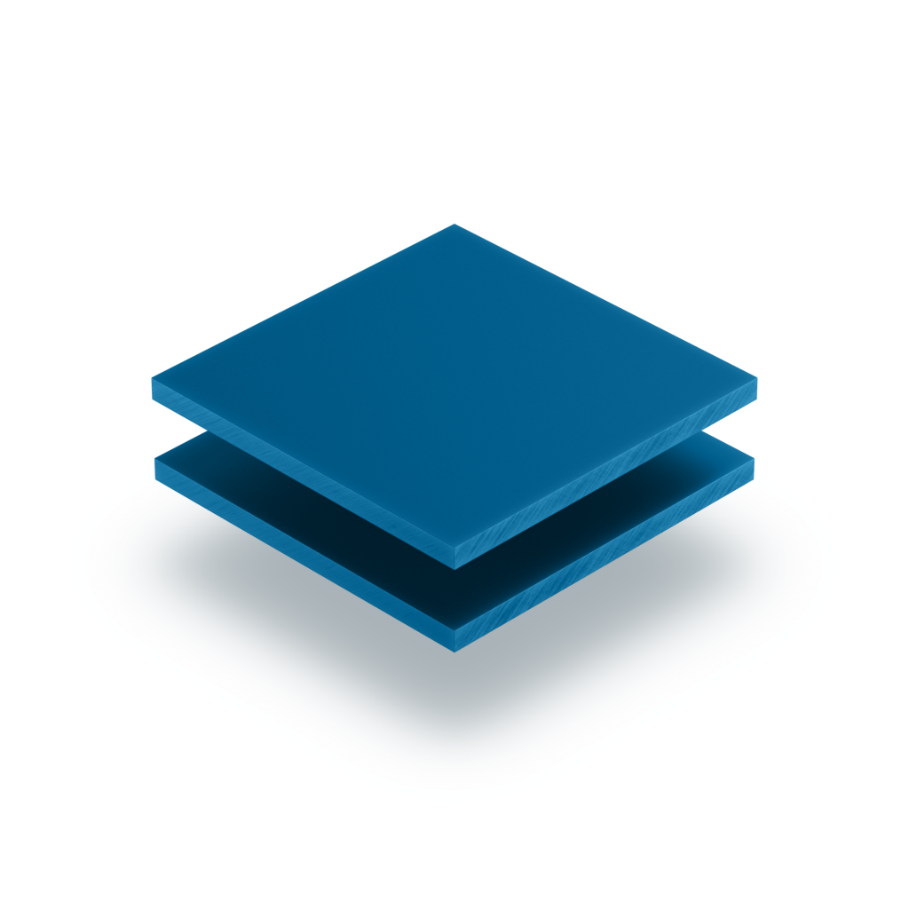 Acrylglas Buchstabenplatte verkehrsblau matt