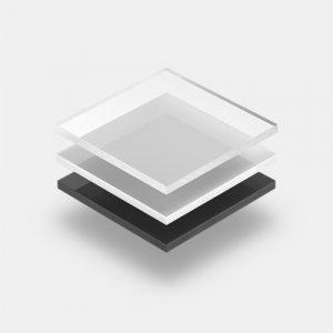 Hart PVC Platten Sortiment mit grauem Hintergrund