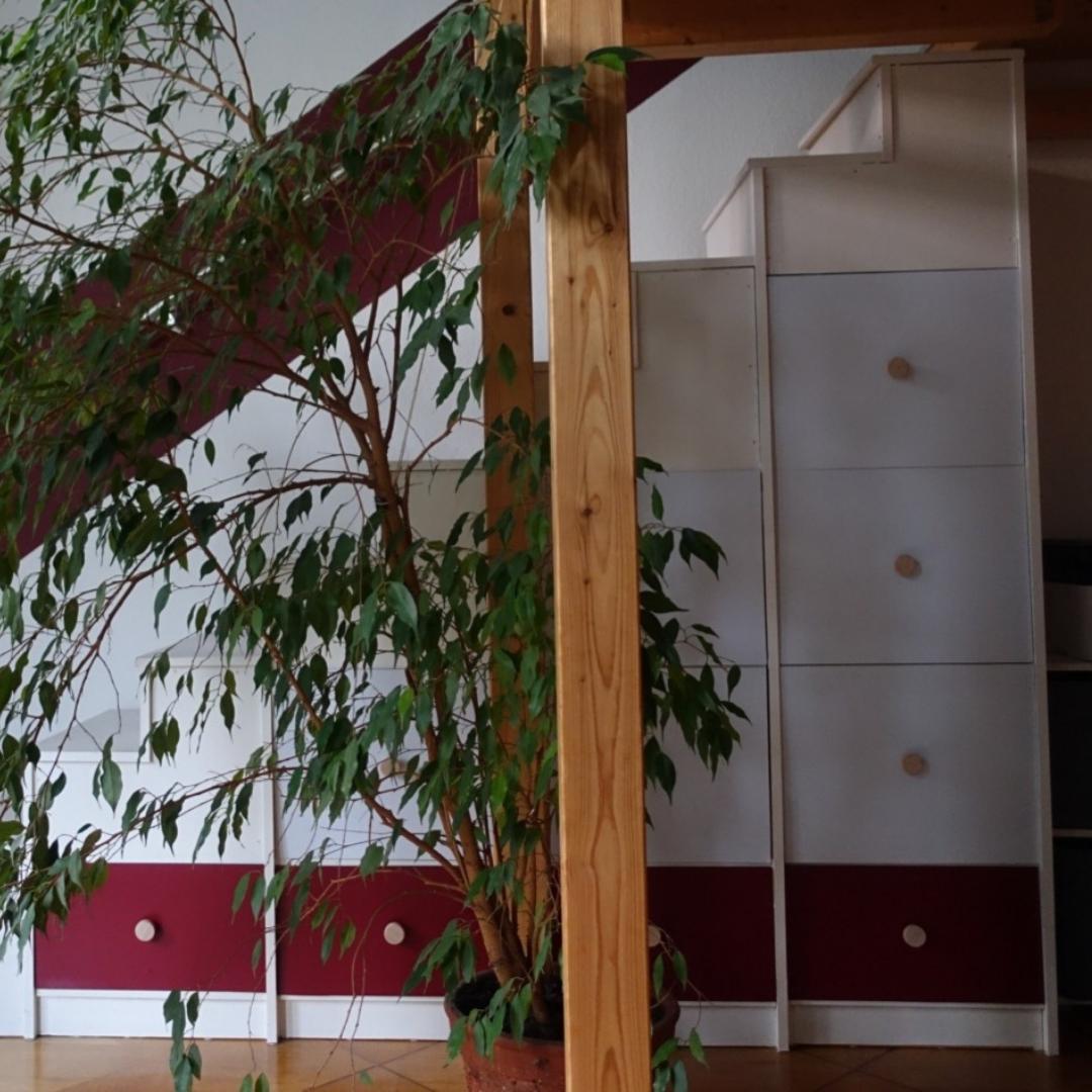 Maßgefertigte Türen für das offene Treppenregal