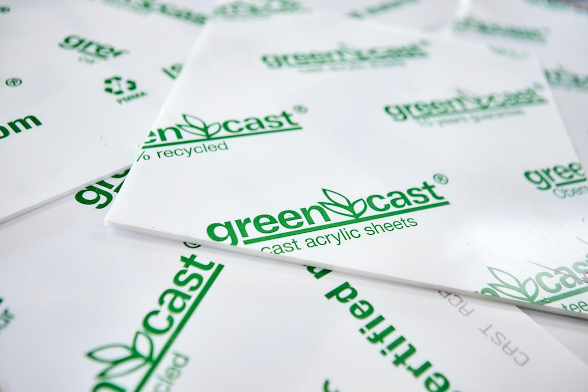 Recyceltes Green Cast Acrylglas
