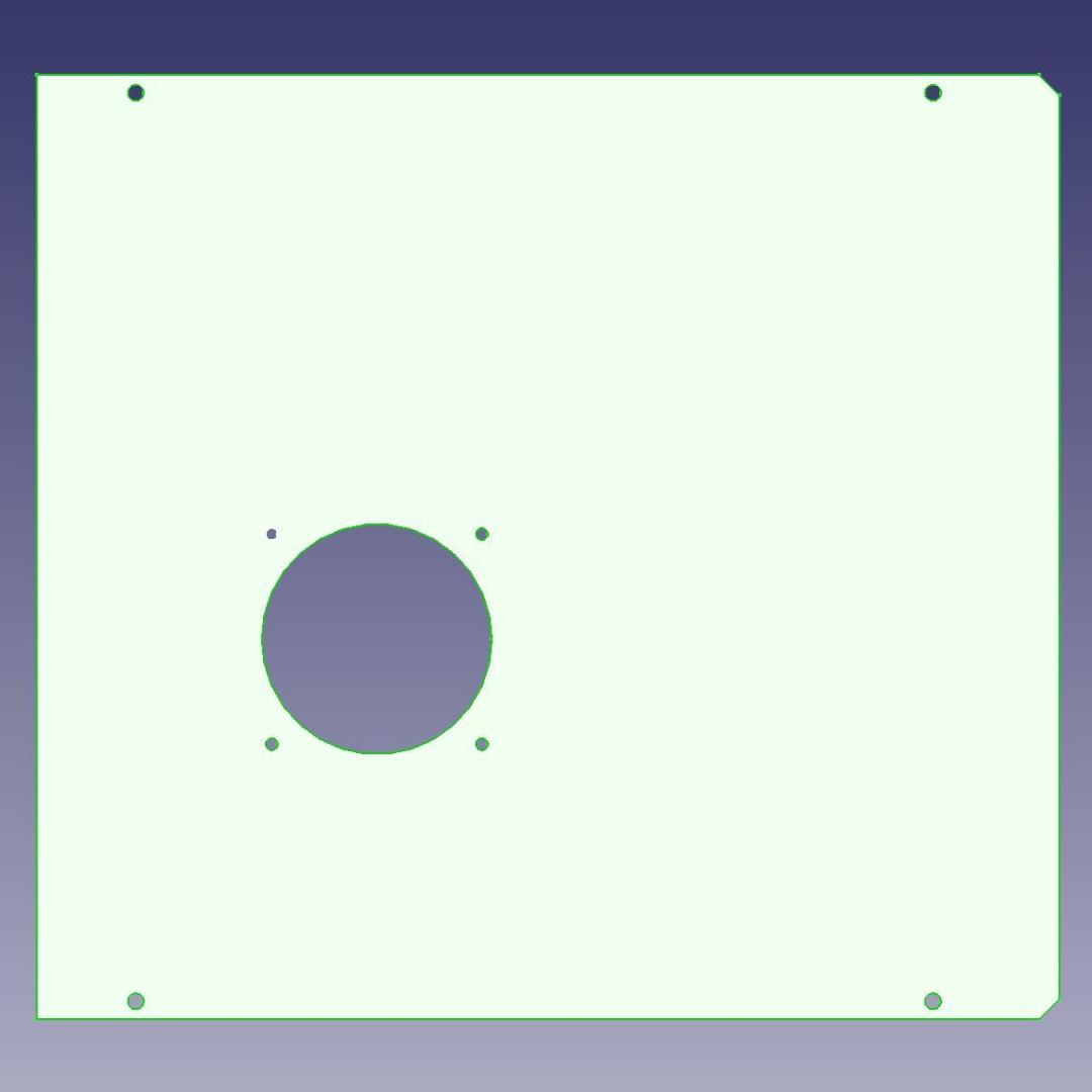 Transparente Seitenscheibe mit Lüfter für PC-Gehäuse