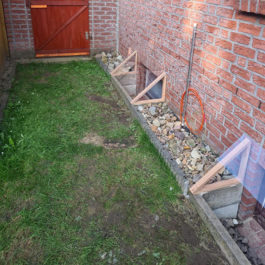 Vorrichtung um den Keller vor starkem Regen zu schützen